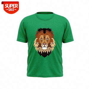 2021New Style Pure Cotton Fashion Animal Embossed T-shirt Men And Women T-shirt #Tj3J