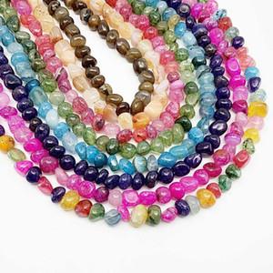 10 € 12mm Strand 15 '' Naturel Stone Dragon Vein Agate Agate Perle Irrégulière Loose Spacer Beads pour la fabrication de bijoux Constatations Bracelet DIY Bracelet H BURBYLSZ