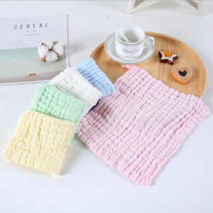 Baby Towel Newborn Handkerchief Bandana Cotton Solid Draped Square Towel Infant Face Towels Solid Wipe Cloth Wrap Toddler Bibs OWC3024