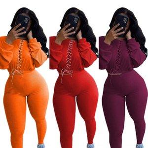 094e Neue Plus Größe Zwei Frau Und Set Top Piece Hosen Anzug Trainingsanzug Kleidung Casual 2 stücke Outfit Sport Frauen Jogging Anzüge Sweatsuits Jumpsui