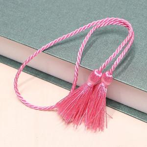 5 unids 54cm cinta de cuerda de dos cabezas largas borlas de bricolaje artesanía accesorios decoración decoración franja adorno hogar textil cortina borlas colgante h wmtdoo