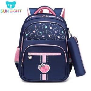 Sun oito classe 1 mochila escolar para menina / menino crianças mochilas escola primária crianças saco 201029