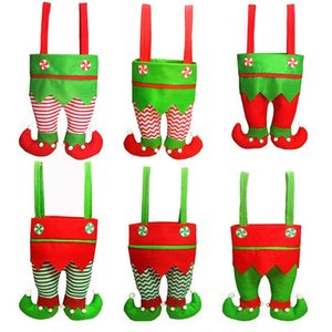 Christmas Elf doces Sacos presentes de Papai Espírito Elf Pants Treat bolso Holiday Party Decor Bags Xmas Decoração JK2010XB