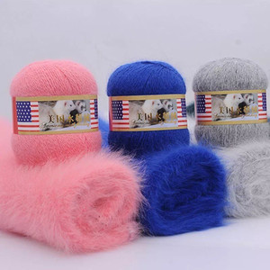 3pcs 210g Long Plush Soft Mink Cashmere Wool Yarn Anti-pilling Hand-Knitting Thread Cardigan Luxury Crochet Scarf Fine Quality 201004