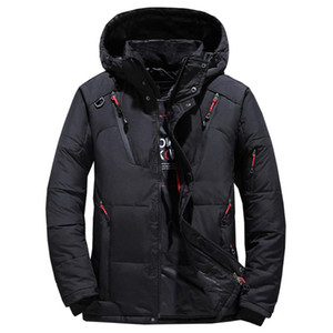 winter Mens jacket warm and thick fit short down jacket zipper Hooded Coat can be hand washed without wrinkles Down