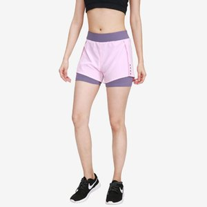 Summer 2020 YOGA SHORTS double fake diapers two quick drying parts race shorts fitness reflective clothing women's training clothes