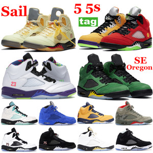 Jumpman 5 5s Sail Alternate Bel Grape Basketball Sapatos Que o Príncipe Príncipe Se Oregon Michigan Running Sneaker Homens Treinadores Esportivos