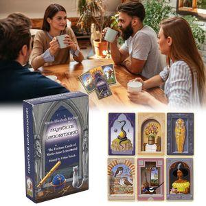 36sheets Mystique Lenormand Oracle Card Version Cartes Tarot Jeu de société plate-forme Cartes Dropshipping 36sheets mystique sqcHVu bdehair