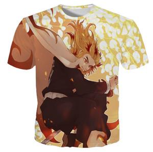 Demon Slayer Comics Tshirts Bay Bayan Unisex Japon Karikatür Tees 3D Moda Erkek Streetwear Tops Boy novetly Hediyeler için Tişörtler yazdır