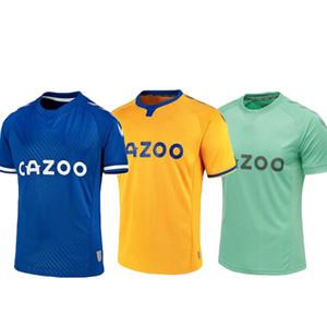 Toffees # 19 James Soccer Jerseys Home Away 2021 Hommes Soccer Shirt # 7 Richarlison # 26 Davies Uniformes de football personnalisés