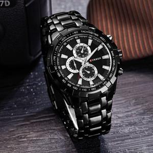Curren Saatler Erkekler Üst Marka Lüks FashionCasual Kuvars Erkek Saatı Klasik Analog Spor Çelik Bant Saati Relojes