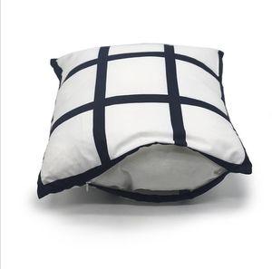 Sublimation Transfer Pillowcase 9 Panel Heat Printing Covers DIY Cushion Throw Sofa Pillowcases Children Fahrenheit Pillow DHC3362