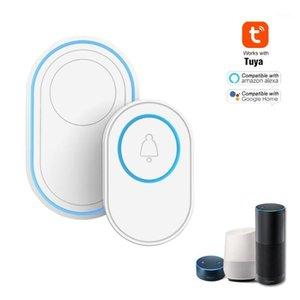 Tuya Alarm Host с беспроводным Wi-Fi дверной звонок Функция ДвернойБелл Kit 1 ШТ. Открытый Дверной звонок + 1 шт. Крытый Chime со светодиодными 58 рингтона1
