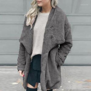 2019 Winter Teddy Coat Women Faux Fur Coat Teddy Bear Jacket Thick Warm Fake Fleece Jacket Fluffy Jackets Plus Size Overcoat#G301