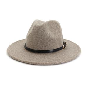 Panama Cap Jazz Felt Fedora Hats Men Women Wool Formal Hat mens womens Lady fashion Brim caps man woman Trilby Chapeau autumn winter NEW