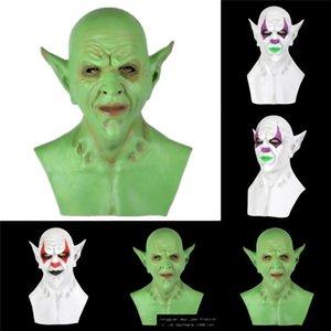 TJsBl Clown Maske für Erwachsene Flamme Terrifying Props Gelb Creepy Scary Maske Dämon Horrific Masken Clown Offenes Iqgwa Maske