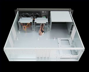 Industrie-PC-Gehäuse 3U380mm usb Kunststoff Lock-Panel Monitor Server Chassis