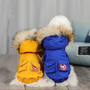 Niños invierno perrito ropa mascota cálido chaqueta a prueba de viento parkas cachorro abrigo ropa para perros pequeños chihuahua bulldog francés ropa
