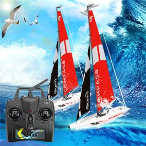 Qualità Volantexrc alta 791-1 65CM 2.4G 4CH Rc barche pre-assemblati a vela senza batteria giocattolo RC Piccoli presente regalo Kid Toys