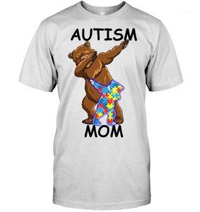 Männer T-Shirts Marke Autismus Mama Bär T-Shirt 2021 Herren Kurzarm T-Shirt1