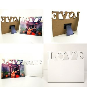 Tabletop Ornaments Photos Frames MDF Sublimation Blanks Pictures Frame Love Valentines Day Family Wood Painting DIY Holder 9 8bd G2