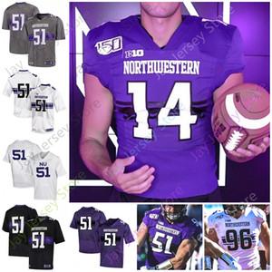 Gatos monteses del noroeste del jersey del fútbol universitario NCAA Aidan Smith Hunter Johnson Riley Joe Lees Gaziano Alex Miller McGowan Jefferson Skowronek