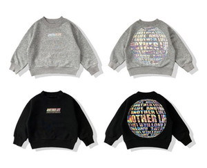 Youth idol autumn and winter children's sweater Korean version of dazzle color reflection Zha Street Plush thickened boy's sweater foreign s