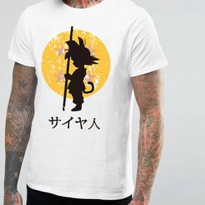 Men's Wear Will Code Short Sleeve T Shirt Seven Dragon Sun Wu Air Trend Round Neck Cartoon