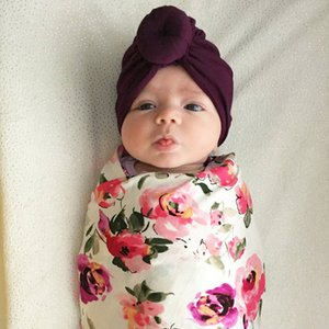 baby new Born Infant products children's headscarf hat baby solid color knotted India headgear cross-border exclusive