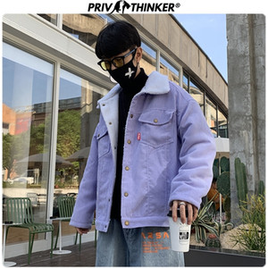 Privathinker Men Autumn Winter Thicken Warm Corduroy Jackets Men's Outwear Hip Hop Coat Male Teen Casual Jacket Colorful 201014