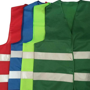 Safety Vest High Visibility Reflective Stripe Traffic Vests Construction Building Traffic Sanitation Workers Reflective Clothing EEC2765