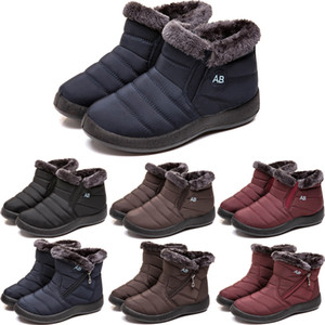Women Snow Boots Plush Warm Ankle Boots for Men Winter Boots Waterproof Women Boot Female Winter Shoes Womens Booties