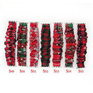 Scrunchie Christmas watch Band For iwatch 5,4,3,2,1 38 40MM,42 44MM Santa Strap