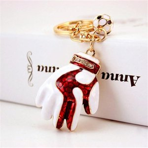 Russia's World Cup Gifts Creative Goalkeeper Gloves Keychains Fashion Key Chains Ring Keyrings Car Pendant Key Holder Trinket