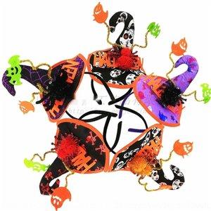 lettere u49Yi Halloween Spider Witch lettere cappello Hook fascia masquerade atmosfera di Halloween cranio partito Spider Witch accessori Hook capelli