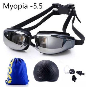 Swimming Goggles Prescription Myopia Professional Diving Glasses Men Women Waterproof Silicone Cap Pool Bag Diopter Eyewear jllNex outer007