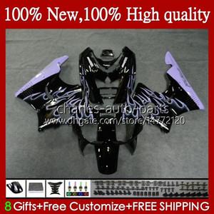 Body pour Honda CBRR 893RR 900RRR CBRRRR CBRRRR CBRRRR CRR893RR Purple Flames 1994 1995 1996 1997 95HC.47 CBR893 CBR93 CBR900 CBR 900 893 RR CBR900RR 94 95 96 97 Catériel