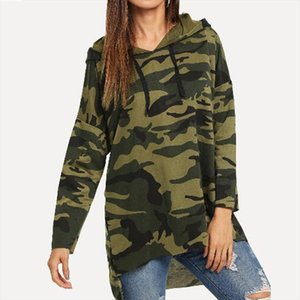 Camouflage Sweatshirt Hoodies Blouse Women Irregular Shirt Autumn Winter Long Sleeve Coat Casual Hooded Top Plus Size Femme d2