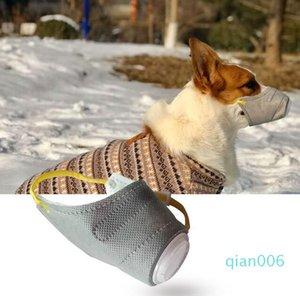 Mascarillas protectoras anti-suave de la contaminación de la boca anti-niebla perro algodón PET PM2.5 Perros Gas Whak Huzzle Mask Haze Filter Filter For Respiratory Sup KDJS