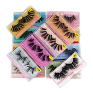 Hot New 25mm False Eyelashes Soft Light Fake 3D Mink Eyelash Glitter Eyelash Extension Faux Mink Lashes With Brush Makeup
