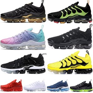 Nike Air Vapormax Tn Plus vapors 2020 New TN Plus Running Shoes USA Triple Black tns Cushion Mens Trainers Women Sports Sneakers