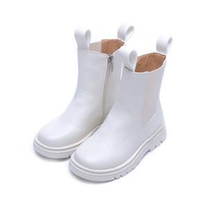 Bibihou Winterstiefel Herbst warme Knöchel-Schuhe für Kinder Mädchen plus Samt-Fest All-Match: Student Gutaussehend Mode Kinder