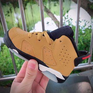 Kids Sneakers VI Basketball Shoes Medium Olive Boys Girls shoes Dark Mocha Sports Babys Infant 6 Childrens sneaker designer High-quality