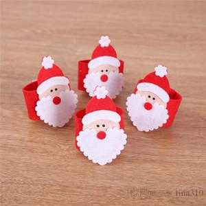 Père Noël Noël Serviette non-tissé Père Noël Ornement de Noël Serviette Hôtel Meubles Serviette T3I51218