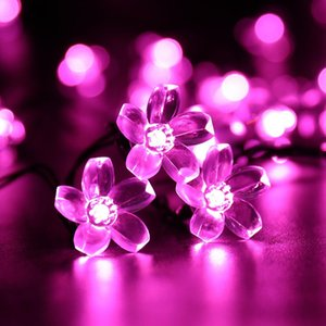 Flower Shape Solar Lamps LED String Lights 200-500 LEDS Outdoor Fairy Holiday Christmas Party Garlands Solar Lawn Garden Lights Waterproof