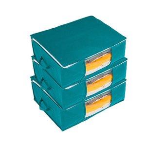 40# Nordic Croco dile Decoration Living Room Cabinet Decoration Foldable Storage Bags Ransparent Travel Luggage Organizer Bag