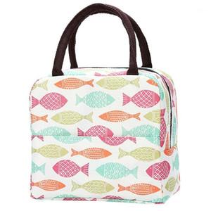 Mittagessen Tasche Einfache Stil Große Kapazität Wasserdichte Oxford Lunch-Tasche Outdoor Picknickkarton Lancheira Escolar Infantil # W21