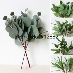 3D real touch Eucalyptus short stems bunch Leaves Home Decoration Artificial Flower Wedding Bouquet