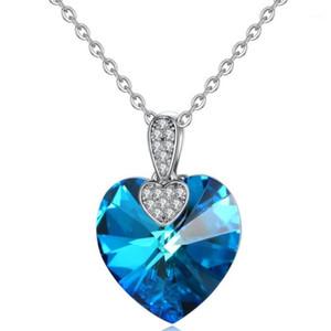 Amazon Explotando pagos decorados con collar de cristal de corazón de ciruela europeo y americano1
