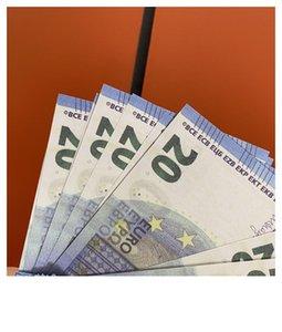 Dollar 20 PROP ARGENT EUROS 008 Barre de pièces de monnaie Ambiance accessoires Money Jouet Bank Celebrity Web Money Simulate Factures Film XOGUP